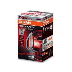D2S Osram Night Breaker Unlimited Xenarc, 4350K,(2ks)+70% 12V/24V
