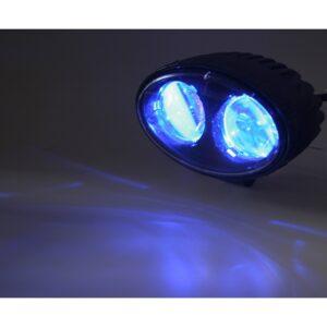 PROFI LED výstražné bodové svetlo 10-48V 2x4W modré 143x122mm