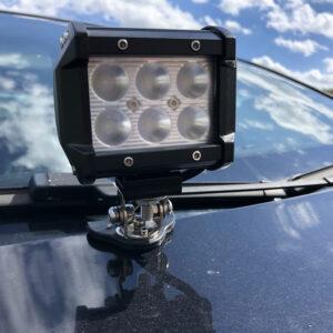 Držiaky LED rampy pod ŠPZ, na trubku, na kapotu, strechu