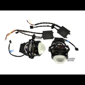 Bi-LED projektory 2ks 12V 35W s 100% čírou optikou, pre retrofit svetlometov.