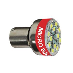 LED žiarovka BA15S 12V so signalizáciou cúvaní Bi-Bi-Bi ...