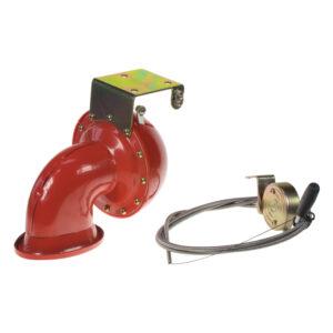 Bull horn siréna 12V, červená, s ovladačom