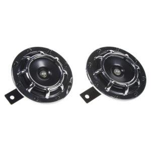 Diskový klaksón (vysoký a nízky tón), chróm, 120mm, 12V