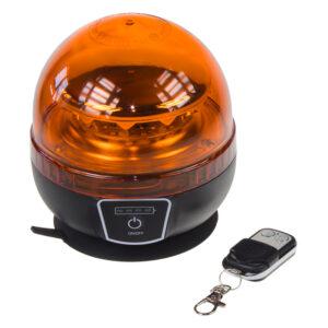 AKU LED maják, 12x3W oranžový, diaľkové ovládanie, magnet, ECE R65