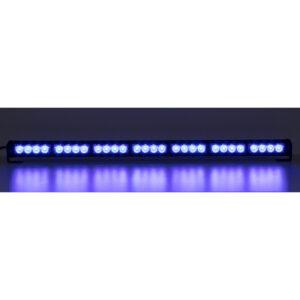 LED svetelná alej, 28x LED 3W, modrá 800mm, ECE R10