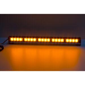 LED svetelná alej, 20x LED 3W, oranžová 580mm, ECE R65