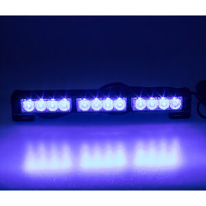 LED svetelná alej, 12x LED 3W, modrá 360mm, ECE R10
