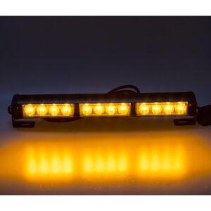 LED svetelná alej, 12x LED 3W, oranžová 360mm, ECE R65