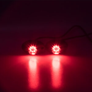 LED stroboskop červený 8x3W, 12-24V