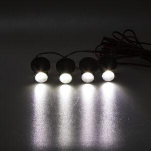 LED stroboskop biely 4ks 1W