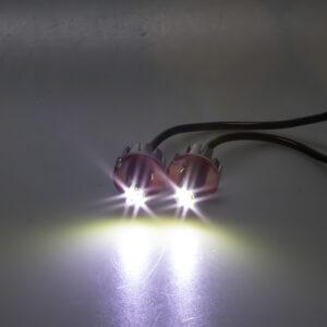 LED stroboskop biely 2x3W, 12-24V