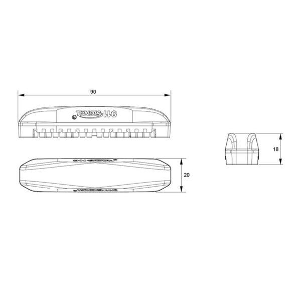 PROFI výstražné LED svetlo vonkajšie, oranžove, 12-24V, ECE R65