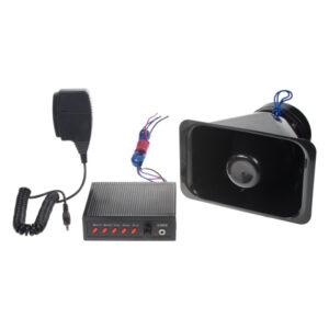 Hobby varovný systém s 5 prednastavenými tónmi, 100W