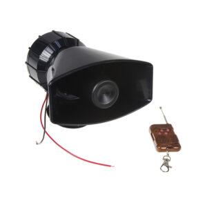 Hobby výstražný systém, siréna 4-tónová 100W, diaľkové ovládanie
