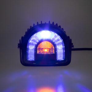PROFI LED výstražné svetlo-oblúk 10-80V modré 138x126mm