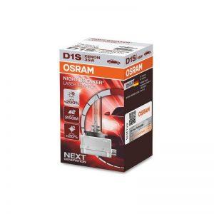 D1S Osram Night Breaker LASER Xenarc +200% 4500K najsilenjšia xenónová výbojka 35W 12-24V, 85V.