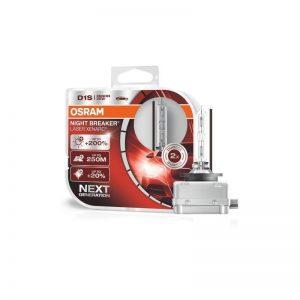 D1S Osram Night Breaker LASER Xenarc,+200% 35W BOX xenónové výbojky 12-24V, 85V. TOP.