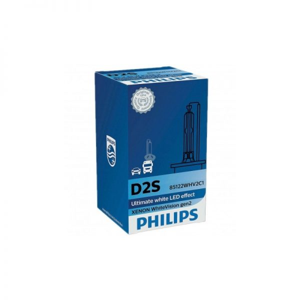 D2S Philips Xenon WhiteVision Gen.2 5000K 35W 85V xenónová výbojka, 12-24V TOP