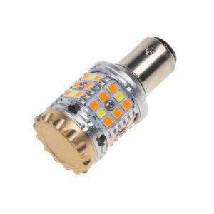 LED BAY15d biela / oranžová, CAN-BUS, 12V, 40LED / 3030SMD