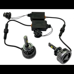 Xenón LED žiarovky D1S, USA CSP Chip, 5000lm,12/24V, farba svetla biela, sada 2 kusy, výmena Plug & Play