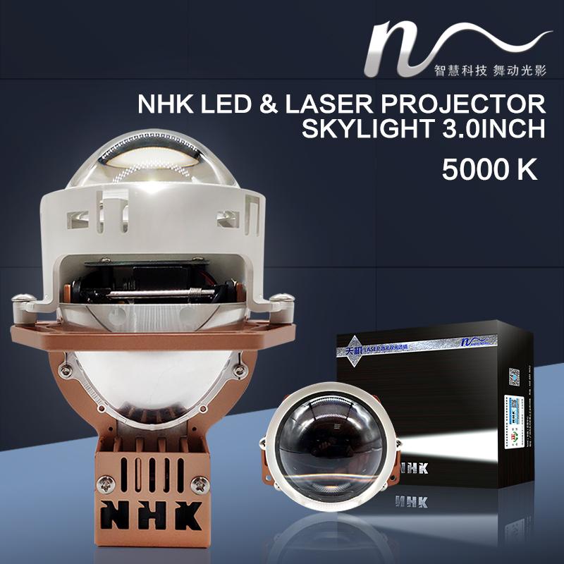 """NHK® LED & Laser projektory Grand X 3.0"""" 45W/55W, 12V, 5000K, 2ks, vysokovýkonná sada"""